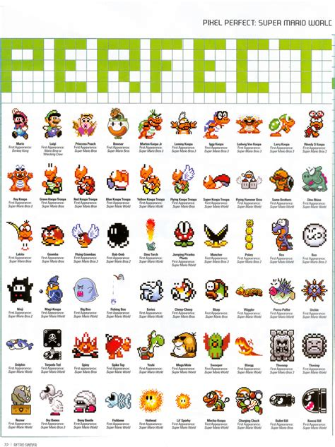 Super Mario World Game Characters Great Gaming Info