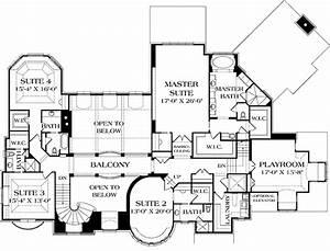 European, Style, House, Plan, Ft