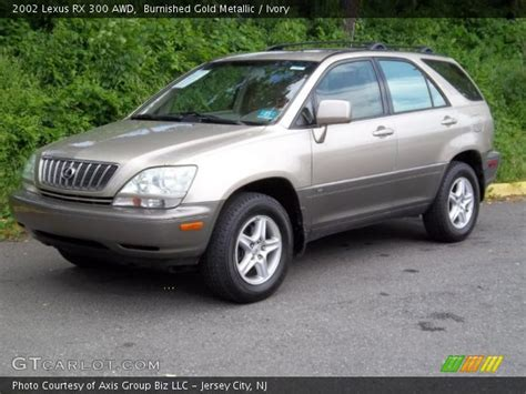 gold lexus rx burnished gold metallic 2002 lexus rx 300 awd ivory