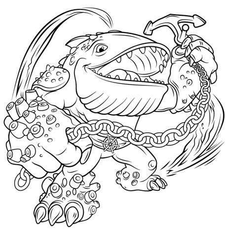 skylanders giants thumpback coloring page  printable