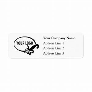 Business return address labels with custom logo zazzle for Address labels with logo