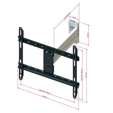 support mural tv 52 pouces puremounts support mural de tv pm xflat 25xl ultraplat enti 232 rement orientable inclinable