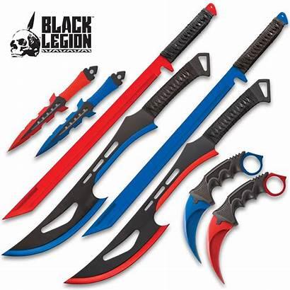 Blades Ice Steel Ninja Swords Fire Stainless