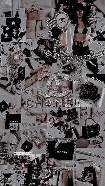 Chanel Aesthetic Lockscreen Bling Iphone Purple Background