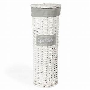 Panier Papier Toilette : panier tress papier toilette blanc h 47 cm maisons du monde ~ Teatrodelosmanantiales.com Idées de Décoration
