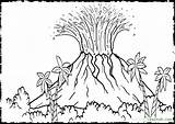 Volcano Coloring Pages Hawaii Drawing Island Printable Colour Sheets Landscape Colouring Vulcano Dinosaur Eruption Activity Mclaren Books Biology Drawings Sketch sketch template