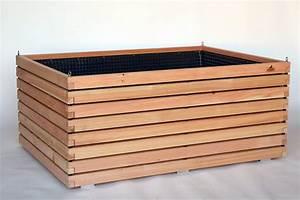 Dielenbretter Für Terrasse : gro es hochbeet aus holz der l rche f r terrasse und einfahrt ~ Michelbontemps.com Haus und Dekorationen