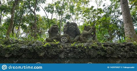 the three wise monkeys in daien buddhist temple tokyo japan royalty free stock