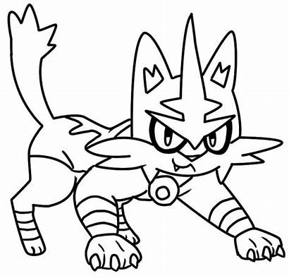Pokemon Coloring Torracat Pages Alola Moon Sun