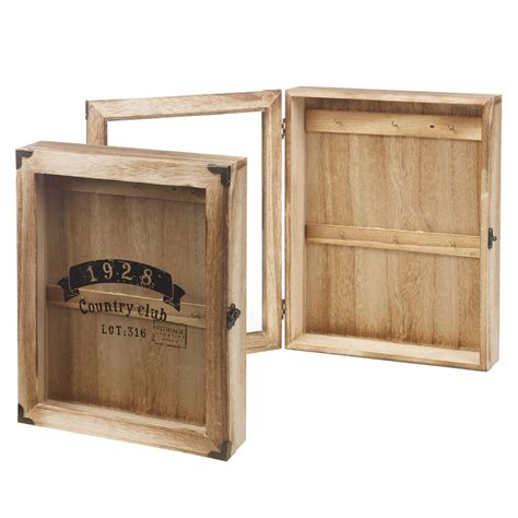 wooden wall mounted key storage cabinet holder cupboard