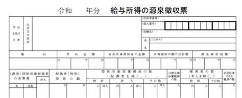 源泉 徴収 票 再 発行