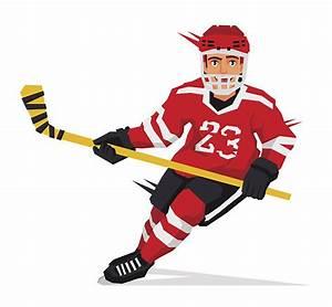 Hockey Player Clipart Free - ClipartXtras