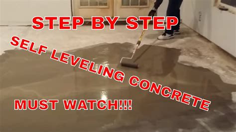 install  leveling concrete  cement youtube