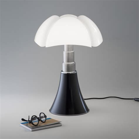 lampe pipistrello medium led martinelli luce marron   design