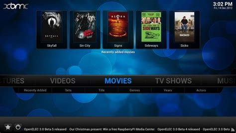 Xbmc For The Raspberry Hut