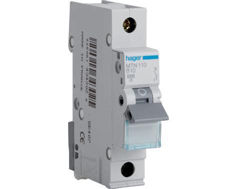 hager mtn range single pole miniature circuit breaker