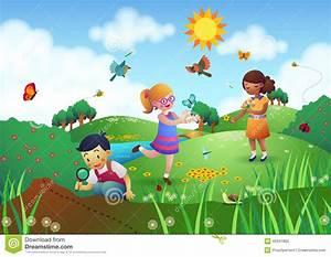 Mein Garten Spiele Kostenlos : kinder die in einem garten spielen stock abbildung bild 46341805 ~ Frokenaadalensverden.com Haus und Dekorationen