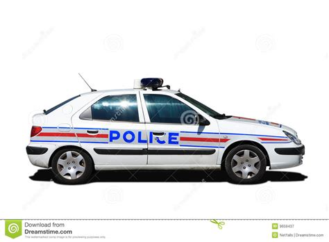 French Police Car Stock Image. Image Of Lights, Driver