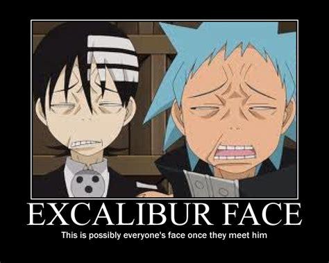 Soul Eater Excalibur Meme - excalibur face by korrafan10