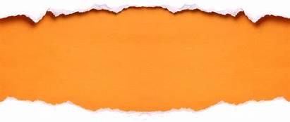 Torn Paper Orange Clipart Clip Cliparts Winter