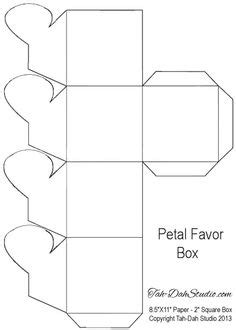 Box Template can be cut out with scissors or a craft knife