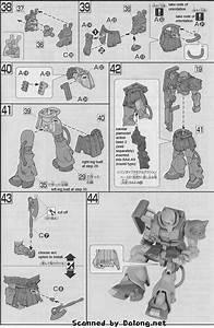 Hg Ms-06fz Zaku Ii Fz English Manual  U0026 Color Guide