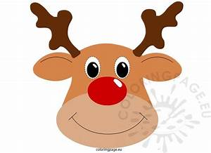 Rudolph mask – Coloring Page