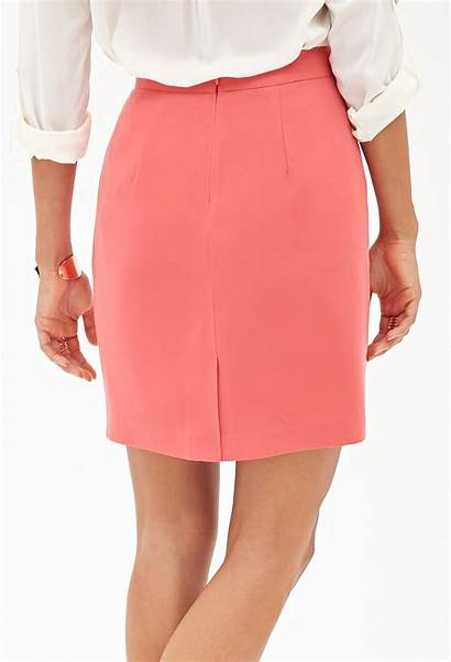 Pencil Skirt Pink Pleated Forever Woven
