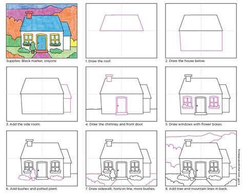 draw  cottage apfk tutorials kinder zeichnen ideen
