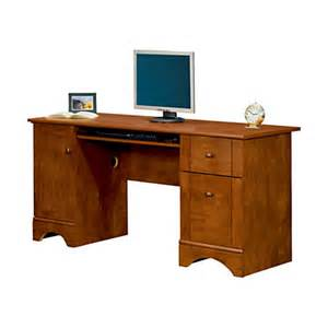 realspace dawson 60 computer desk 30 h x 60 w x 24 d brushed maple by office depot officemax