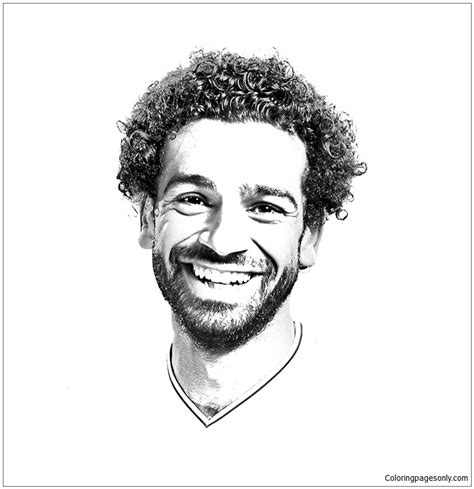 mohamed salah image  coloring page  coloring pages