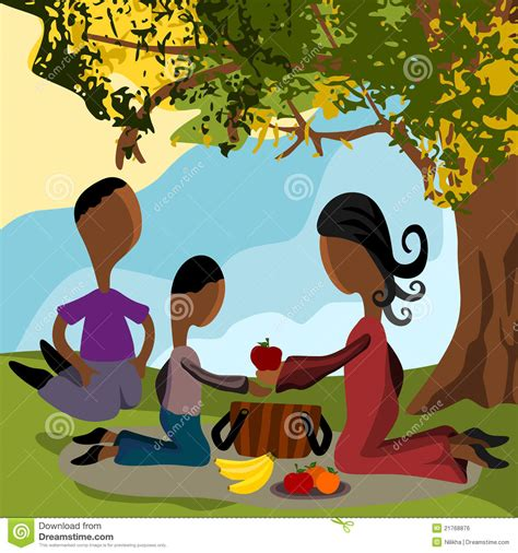 caring tree caring your family family picnic royalty free stock image image 21768876