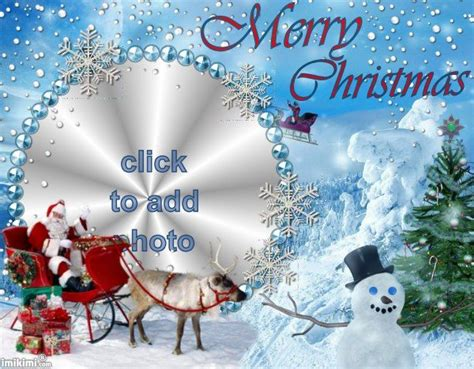 merry christmas upload your picture merry christmas frame make your own christmas card for facebook free using imikimi click to