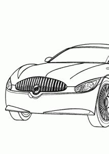 super car buick lacrosse coloring page cool car printable