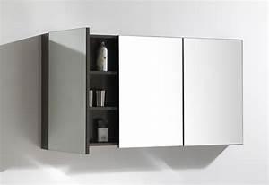armoire salle de bain miroir 3 portes With porte d entrée alu avec meuble salle de bain 70 cm pas cher