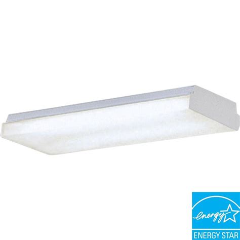 progress lighting 2 light white fluorescent fixture p7285