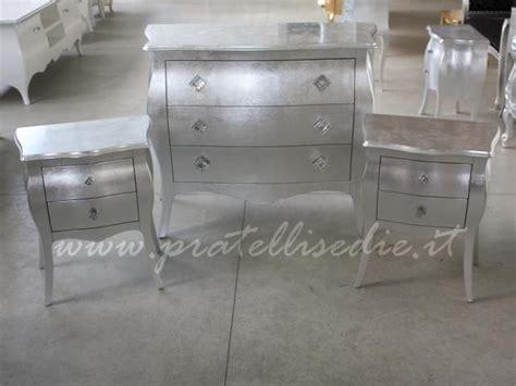 comodini argento gruppo bombato guide in metallo pratelli mobili