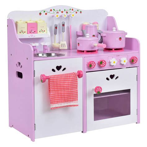 Kitchen Play Set by New Wooden Play Set Kitchen Strawberry Pretend