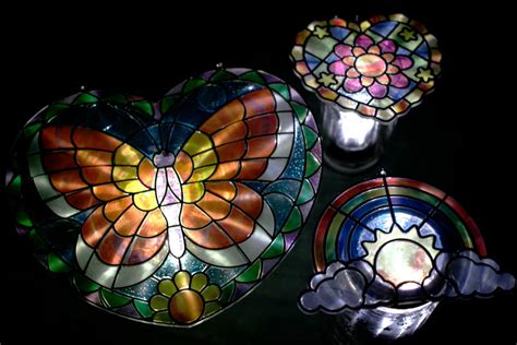 gifts can make stained glass solar lights