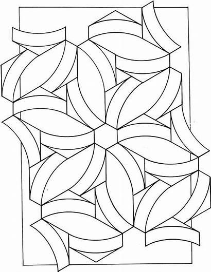 Geometric Coloring Printable Adult Mandala Shapes Shape