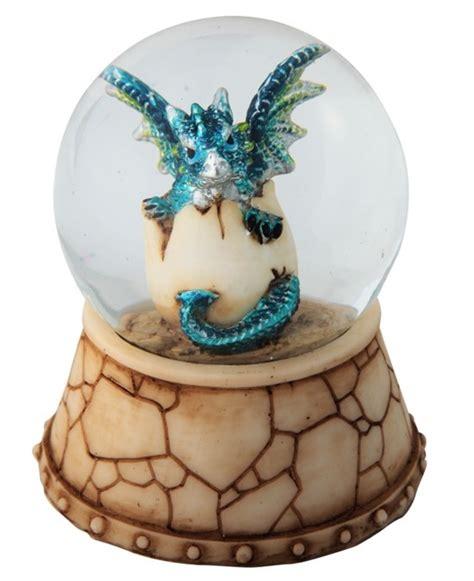 blue dragon egg snow globe gsc imports