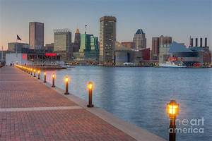Baltimore Skyline At Twilight I Photograph by Clarence Holmes