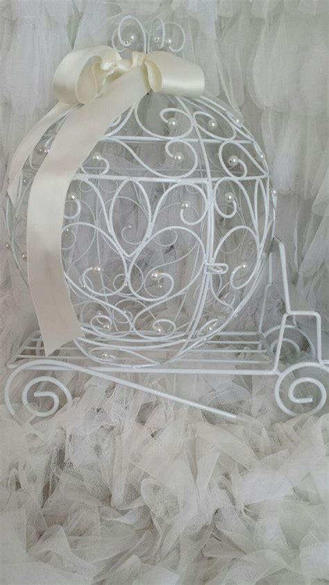 cinderella carriage card holder cage wedding prop