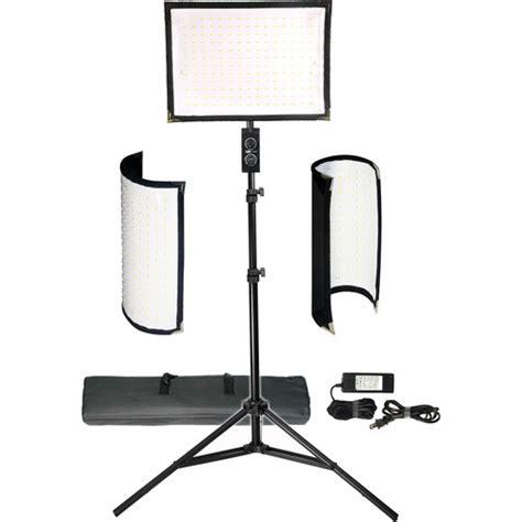vidpro professional led light vidpro fl 180 flexible vari color led light panel kit fl