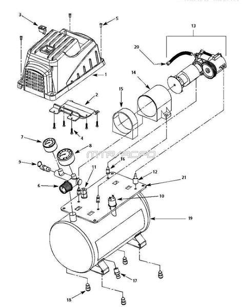 Campbell Hausfeld FP209001 & FP209401 Air Compressor Parts