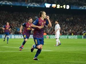 Andres Iniesta in FC Barcelona v AC Milan - UEFA Champions ...