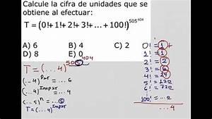 Como Calcular La Cifra Terminal En Una Suma De Factoriales