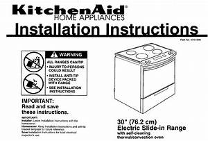 Kitchenaid Convection Oven 9751596 User Guide