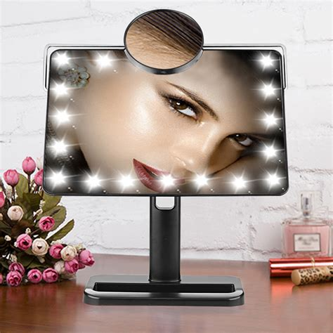 portable makeup mirror with lights portable tabletop touch led lighted vanity makeup tabletop
