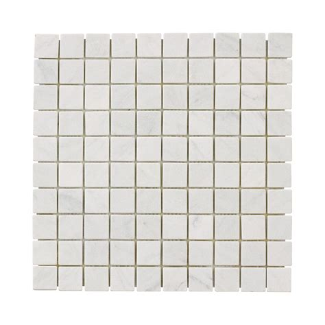 home depot white floor tile jeffrey court carrara white 12 in x 12 in x 8 mm marble mosaic floor wall tile 99050 the